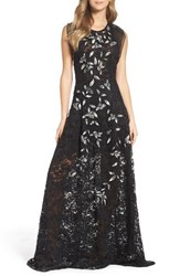 Sachin Babi Women's And Noir Lace Ballgown