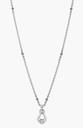Lagos 'Derby' Diamond Pendant Necklace Sterling Silver