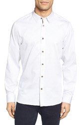 Ted Baker Men's London Lector Extra Trim Fit Dotted Circle Print Sport Shirt