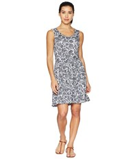 White Sierra Tangier Odor Free Printed Dress Black