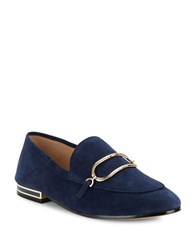 Karl Lagerfeld Ember Almond Toe Loafers Navy Blue