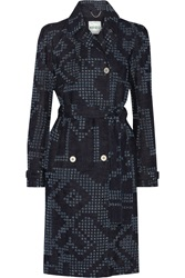 Kenzo Belted Perforated Denim Coat
