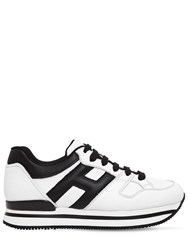 Hogan 50Mm H222 Leather Sneakers White