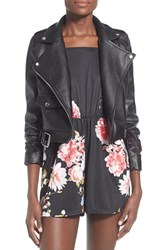 Women's Missguided 'Zazula' Faux Leather Moto Jacket