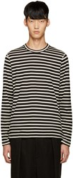 Junya Watanabe Black And White Stripe T Shirt