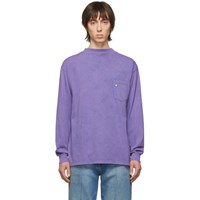 Aries Purple Acid Wash Long Sleeve T Shirt