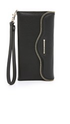 Rebecca Minkoff Leather Folio Iphone 6 Plus 6S Plus Wristlet Black