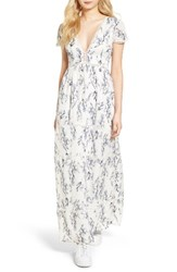 Lucca Couture Women's Lattice Inset Floral Maxi Dress