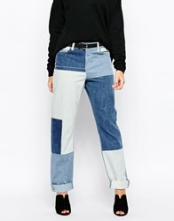 Noisy May Kim Loose Patchwork Jeans A12trendnm
