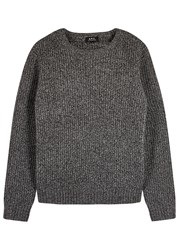 A.P.C. Grey Wool And Cashmere Blend Jumper