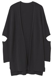 Mango Elbow Cardigan Black