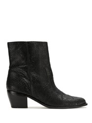 Mara Mac Leather Ankle Boots Black