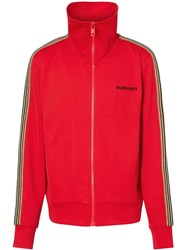 Burberry Icon Stripe Detail Track Top Red