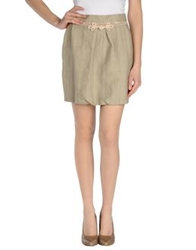 Monica Bianco Mini Skirts Light Grey
