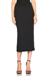 Atm Anthony Thomas Melillo Midi Tube Skirt In Black
