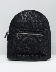 Pimkie Mini All Over Lace Backpack Black