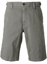 Eleventy Shorts With Button Fastening Rear Pockets Grey