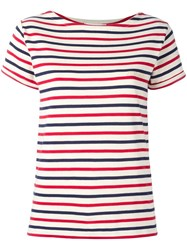 Maison Labiche Striped T Shirt Red