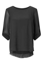 James Lakeland Pleated Back Shirt Black