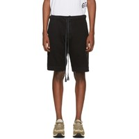 Greg Lauren Black Cotton Shorts