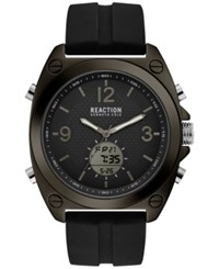 Kenneth Cole Reaction Men's Analog Digital Sport Black Silicone Strap Watch 46Mm
