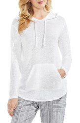 Vince Camuto Linen Hoodie Ultra White