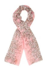 Cara Accessories Printed Scarf Pink