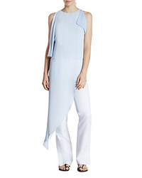 Halston Heritage Asymmetric Silk Tunic Top Breeze