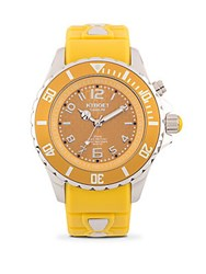 Kyboe Power Stainless Steel And Silicone Strap Watch Mustard
