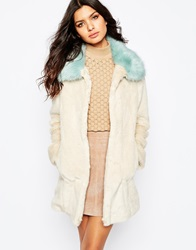 Unreal Fur Candy Blossom Coat Creamandaqua