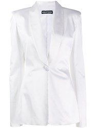 House Of Holland Classic Single Breasted Blazer White