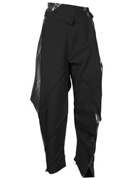 Issey Miyake Cropped Origami Trousers Black