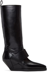 Rick Owens Black Pull On Boots