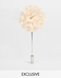 Designsix Mini Flower Lapel Pin Cream