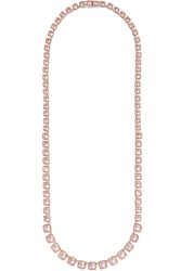 Larkspur And Hawk Bella Riviere Rose Gold Dipped Quartz Necklace Rose Gold Pink