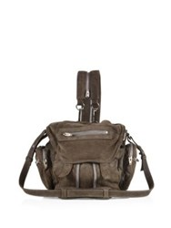 Alexander Wang Mini Marti Convertible Leather Backpack Mink Grey