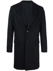 Ami Alexandre Mattiussi Single Breasted Coat Blue