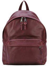 Eastpak Zipped Backpack Men Leather One Size Red