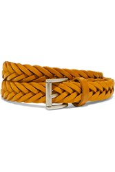 Andersons Anderson's Woven Leather Belt Mustard