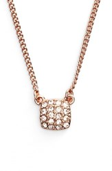 Women's Givenchy 'Legacy' Square Pendant Necklace Rose Gold Silk