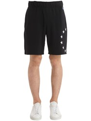 Etudes Europa Embroidered Cotton Jersey Shorts Black