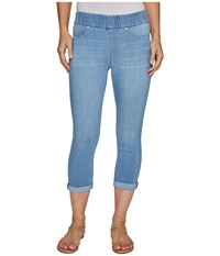 Liverpool Sienna Pull On Rolled Cuff Capris In Silky Soft Denim In Normandie Light Normandie Light Women's Jeans Blue