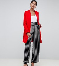 Missguided Tall Formal Coat In Red
