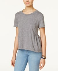American Rag Peplum Top Only At Macy's Grey