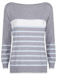 Fenn Wright Manson Zeus Jumper Grey Stripe