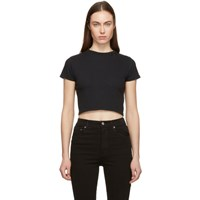 Agolde Black Cropped Baby T Shirt