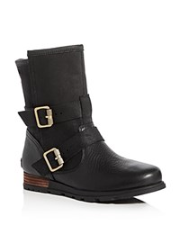 Sorel Major Moto Double Buckle Booties Black