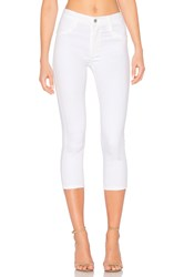 James Jeans High Class Crop Skinny White Clean