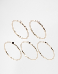 Pieces Maggie Combi Multipack Ring Gold