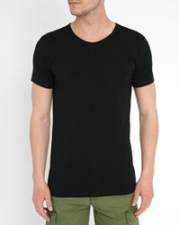 Tommy Hilfiger 3 Pack Of T Shirts In Black Cotton And Elastane
